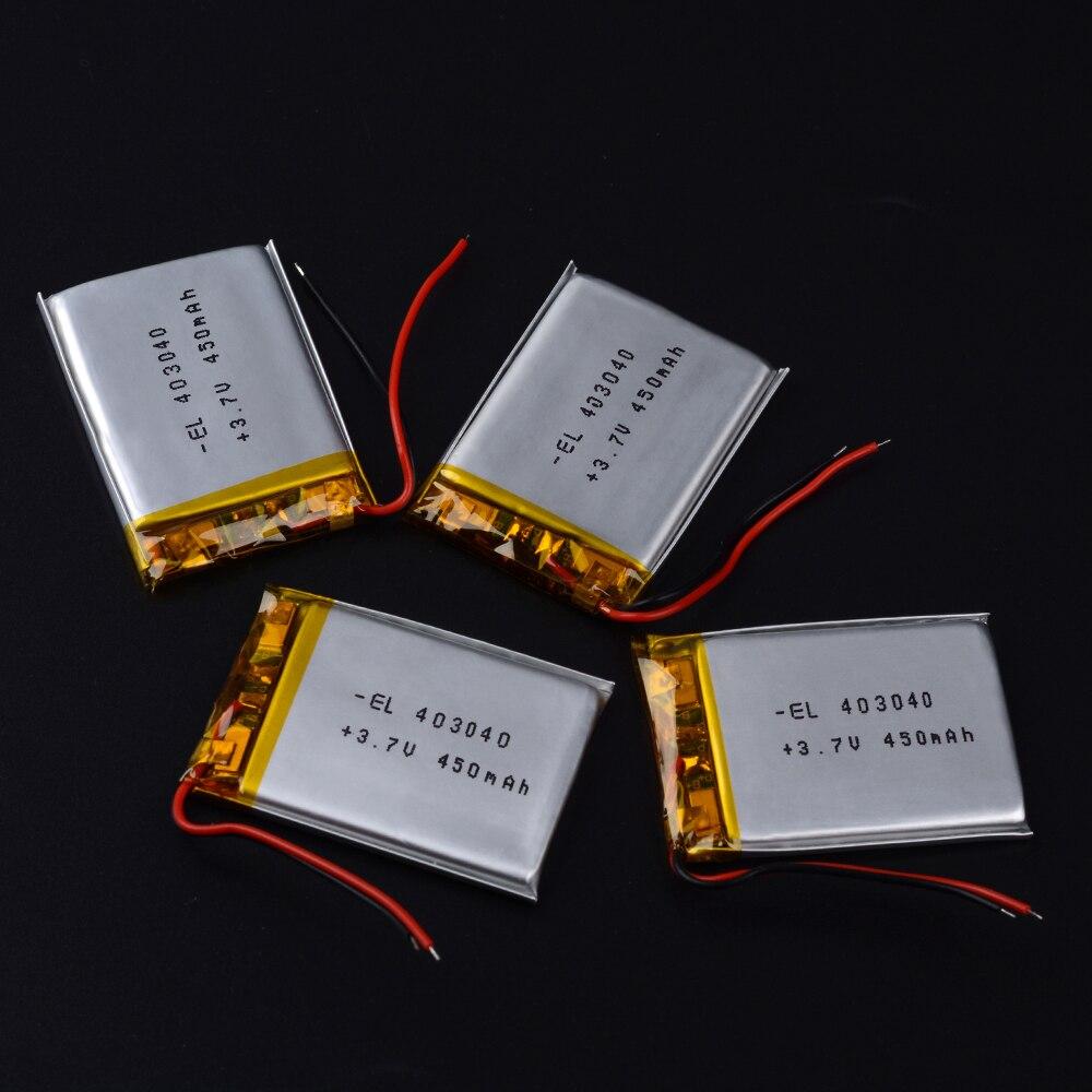 3.7V lithium polymer battery 403040 450mAh MP3 MP4 GPS Bluetooth DVR on