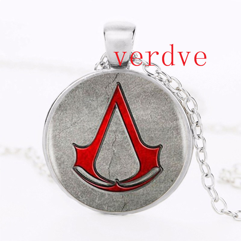 2017 New Assassin's Creed Logo Necklace Pendant Glass Charm World Of Warcraft Picture Vintage Necklace Handmade Jewelry