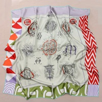 35 Large Square 100% Twill Silk Scarf Hijab Head Scarves High Quality Birthday Gifts for Women