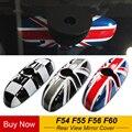 Автомобильные зеркала заднего вида чехол Стикеры Декор авто-Стайлинг для BMW MINI Cooper JCW S One + F54 F55 F56 F60 аксессуары для земляков