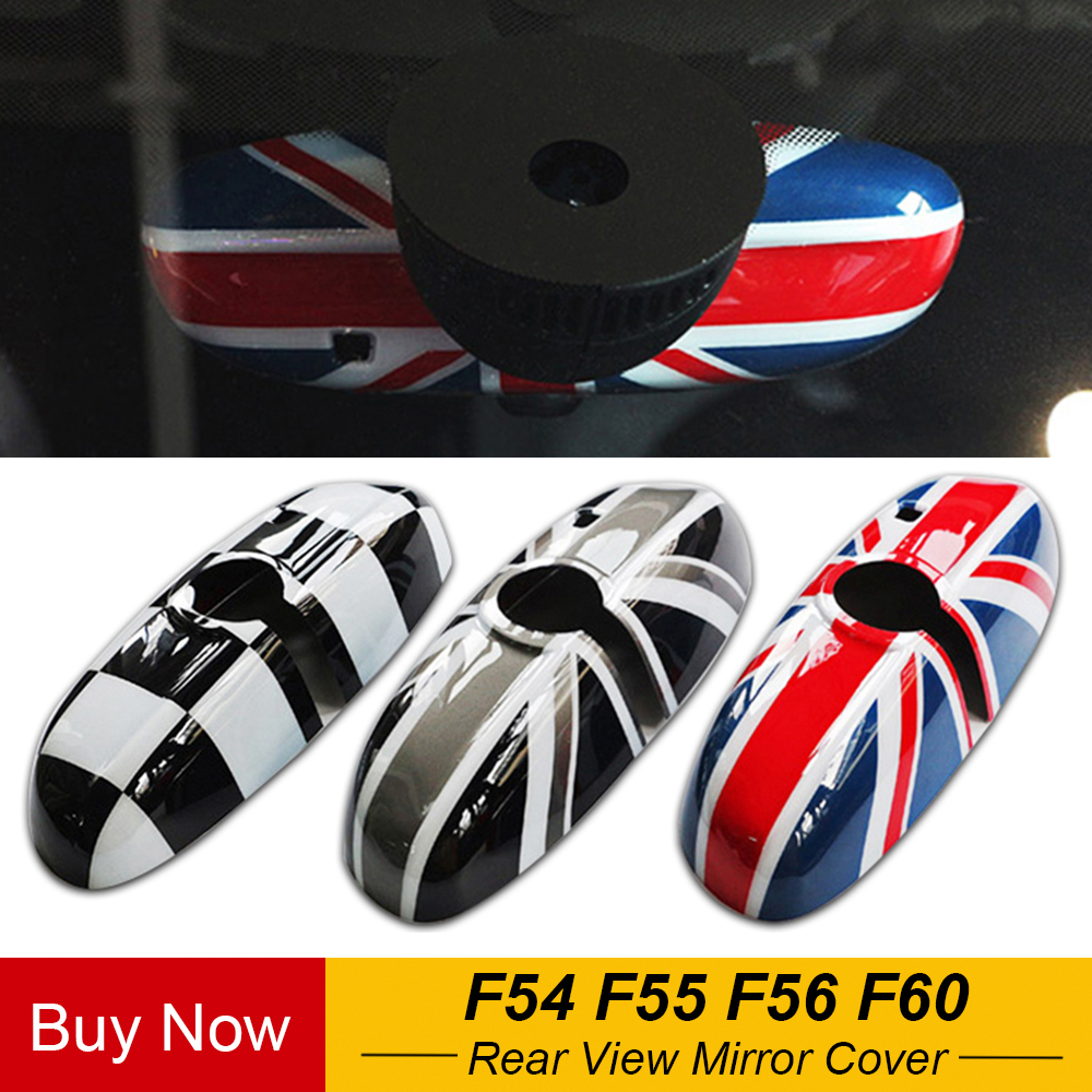 Car Rear View Mirrors Case Cover Sticker Decor Car-Styling For BMW MINI Cooper JCW S One  F54 F55 F56 F60 Countryman Accessories