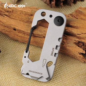 420 stainless steel Outdoor portable tool Multitools EDC stainless steel multi-function tool keychain Camping survival gear mini multifunctional keychain edc outdoor camping portable stainless steel pocket tools for wilderness survival dropshipping csv
