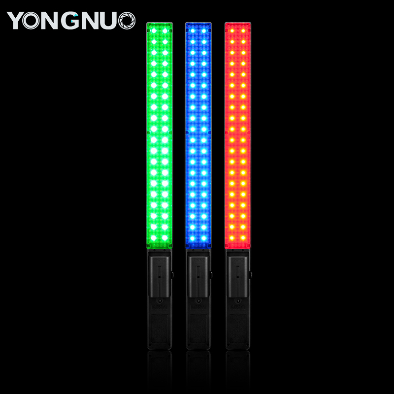 YONGNUO YN360 Handheld LED Video Light 3200k 5500k RGB Colorful 39.5CM ICE Stick Professional Photo LED Stick yongnuo yn360ii yn360 ii led video light handheld ice stick photo lamp bicolor 3200k 5500k with rgb controlled by phone app