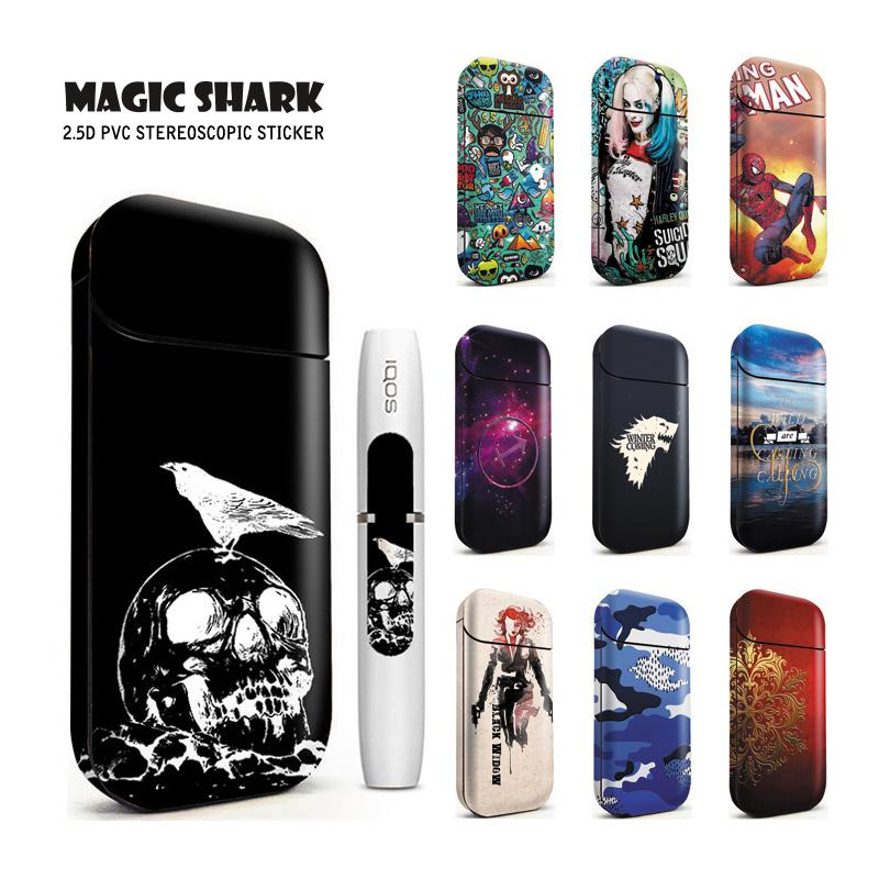 Magic Shark Skull Clown Girl Winter Coming Spiderman Fashion Cool Sticker Film For IQOS 2.4 Plus Case Cover For IQOS 2.4P