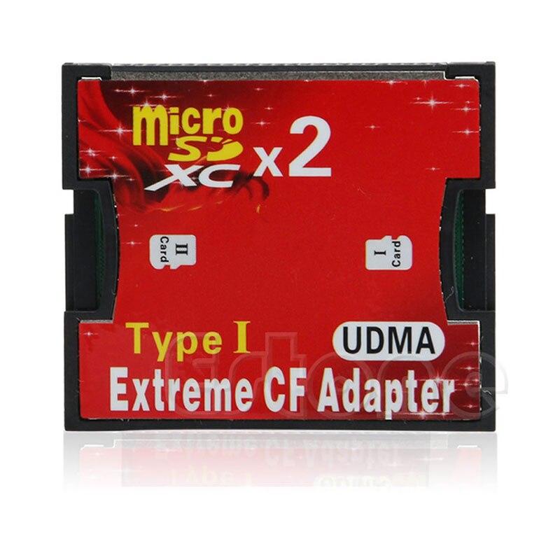 Adaptador lector CF tarjeta Flash compacta BGEKTOTH 2 puertos a Tipo I 1