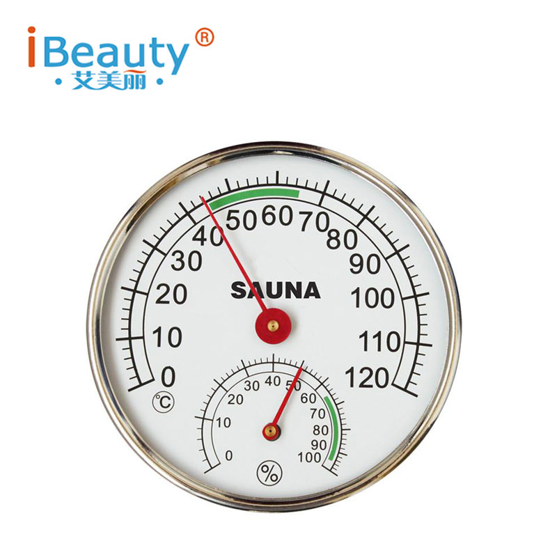 Sauna Thermometer Stainless Steel Case Steam Sauna Room Thermometer Hygrometer In the sauna room accessories for sauna free shipping high quality sauna accessory cartoon design sauna equipment thermometer hygrometer