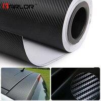 500 cm x 60 cm DIY Impermeable Motocicleta Sticker Car Styling 3D Carbon Fiber Vinyl Wrap Rollo de Película Del Coche Del Coche accesorios Calcomanía Película