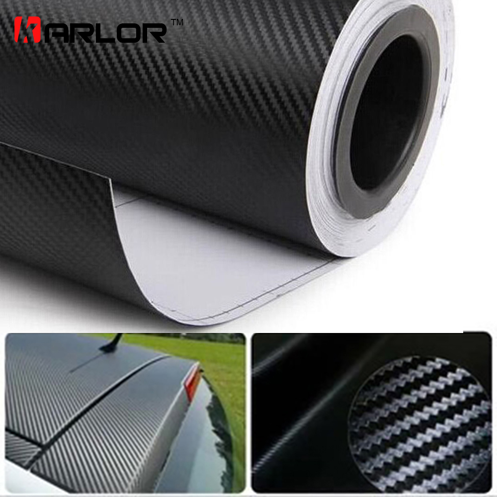 цена на 500cmx60cm Waterproof DIY Motorcycle Sticker Car Styling 3D Car Carbon Fiber Vinyl Wrap Roll Film Car Accessories Decal Film