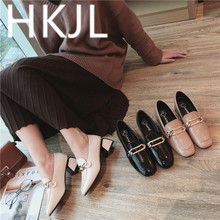 HKCP Shoes women 2019 new womens shoes outside summer wear Korean version with medium thick heel C067