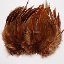 50 pces brown galo plumas 4-6 Polegada/10-15 cm faisão cauda penas de galinha para chapéu ofício máscara dreamcatcher decoração plumas