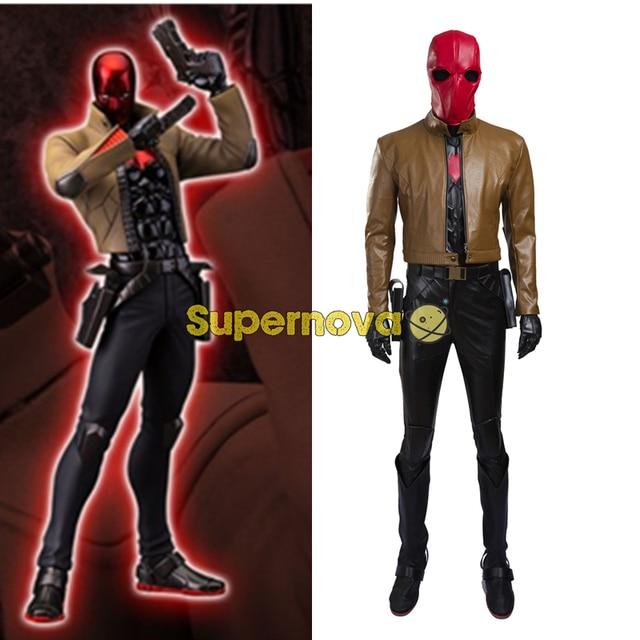 Supernova DC Batman Cosplay Costume Jason Todd Red Hood Cosplay Costume Outfit Red Hood Costume Superhero cosplay costume