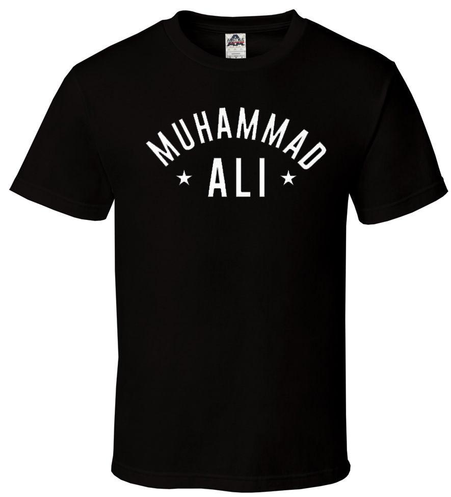Muhammad Ali - Camiseta negra Legend Boxinger GOAT Stars Legend Box - Ropa de hombre