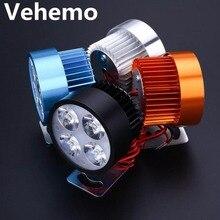 Светодиодный головной светильник для мотоцикла, электровелосипеда, фара для вождения, точечный светильник, водонепроницаемая лампа, 10 Вт, 4 цвета, светодиодный светильник для мотоцикла