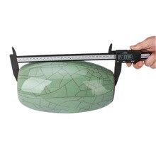 Buy New 200MM Carbon Fiber Plastic LCD Digital Display Electronic Vernier Caliper Gauge Micrometer Measuring Tool