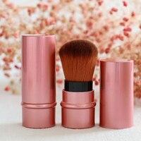 Top sale Mini Retractable Makeup Brush Portable Face Powder Contour Foundation Blusher Brush Professional Soft Cosmetic Tools