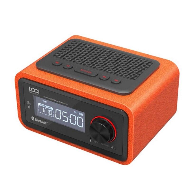 Bezprzewodowy budzik ustawienie funkcja radia FM Bluetooth Plug in głośnik przenośny głośnik multimedialny małe Stereo Mini zegary w Budziki od Dom i ogród na  Grupa 2