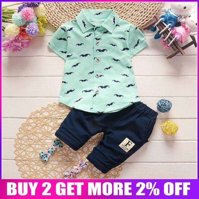 d0472f594c5b6 BibiCola bébé garçon vêtements ensembles Bebe mode t-shirt + pantalon  solide ensemble été enfant