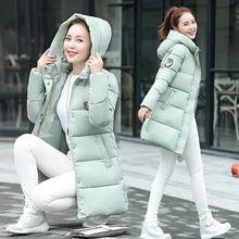 2016 autumn and winter wadded jacket female medium long thickening cotton padded jacket slim with a