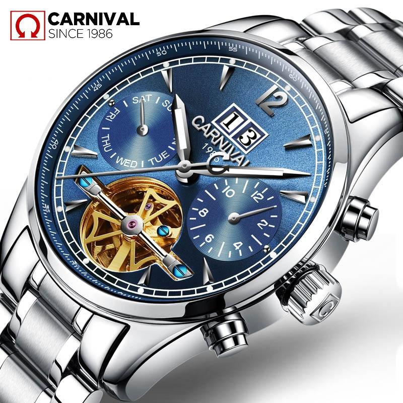 TopBrand CARNIVAL luxe heren skeleton business casual horloge - Herenhorloges - Foto 2