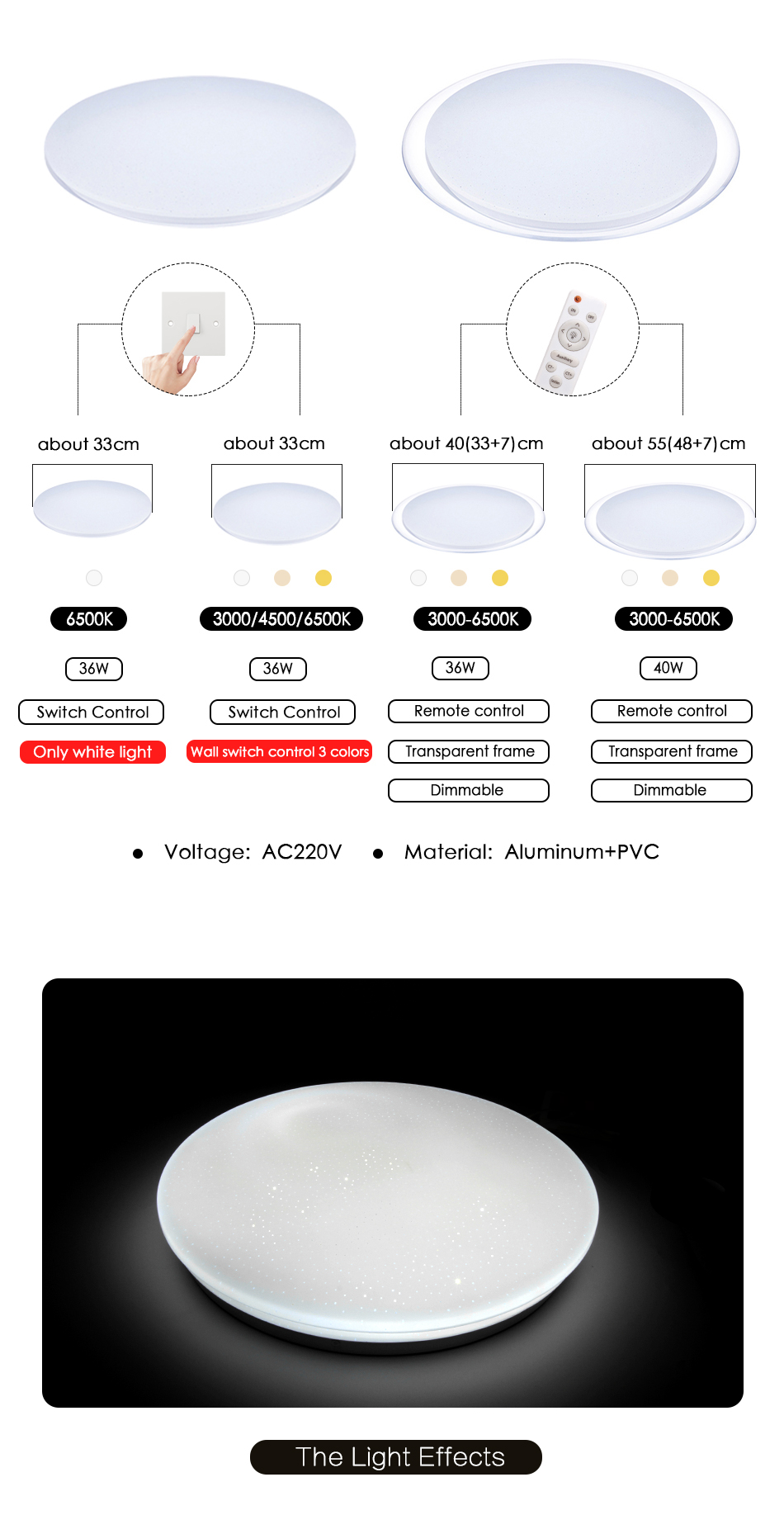 HTB1zto7aEGF3KVjSZFoq6zmpFXa1 Modern LED Ceiling Light Bluetooth Music RGB Dimmable Lamp 36W 40W APP Remote Control AC 220V 240V Colourful Party Bedroom
