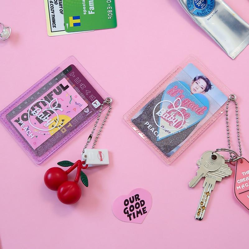 Bentoy Women PVC Card Holder Korean Solid Cute ID Card Case Mini Bus Credit Bank Card Holder Milkjoy Bus Card Set Drop Shipping