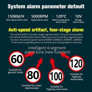 Image 5 - GEYIREN head up ekran C600 OBD2 akıllı ekran hız göstergesi sıcaklık araç elektroniği hızlı projektör HUD ön camda