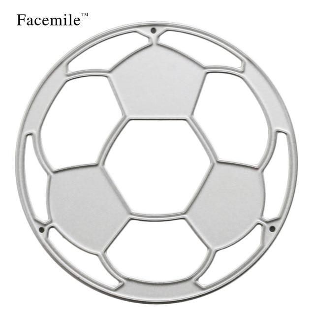 Facemile 1PCS Football Metal Cutting Dies Stencil Scrapbooking Album
