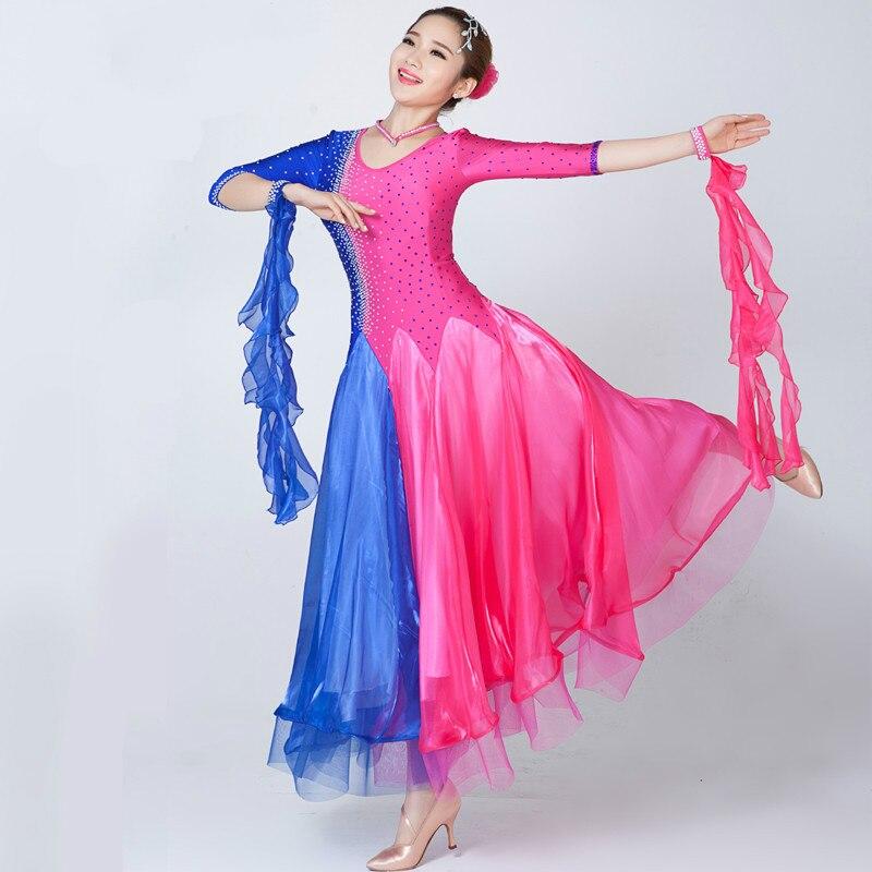 Standard Ballroom Dress Women New 2 Color Waltz font b Tango b font Dancing Skirt Adult