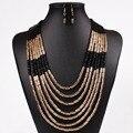 Мода Африканских Ювелирные Наборы Для Женщин Акриловые Бусины Свадебный Ожерелье Серьги Свадьба Ювелирные Аксессуары