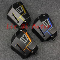 Free Shipping Motorcycle MT07 FZ07 Coolant Recovery Tank Shielding Cover For Yamaha MT 07 FZ 07