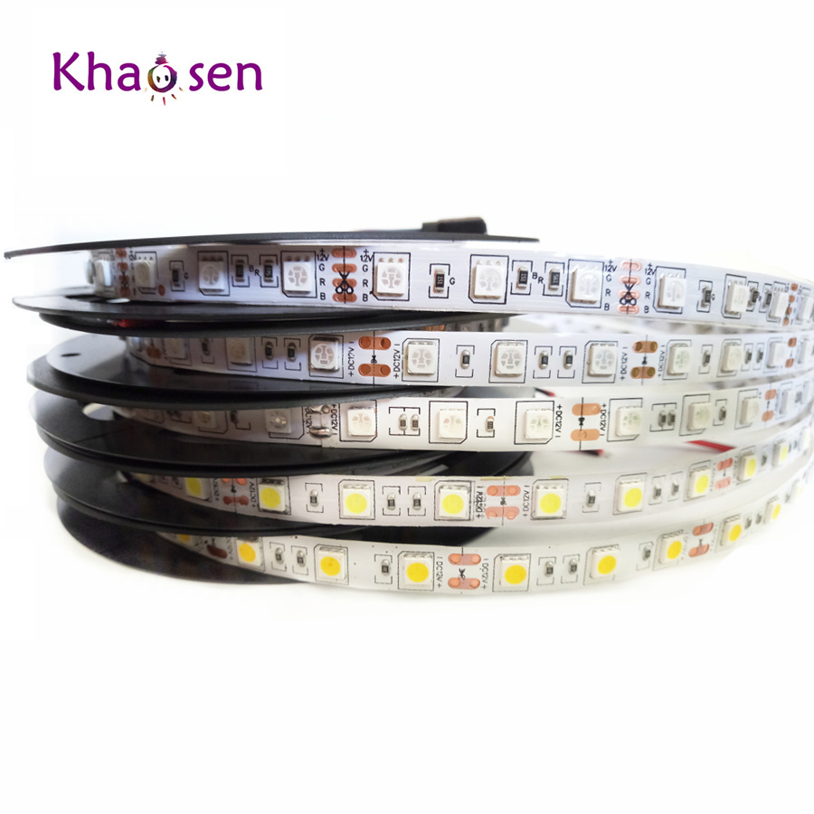 0.5/1/2/3/4/5M LED Strip Light 5050 SMD RGB Led Tape Not waterproof Led Stripe Bar Light String Holiday Decoration Lights DC12V sencart 3 led rgb light motorcycle car decoration handle lamp silver black 3 x lr44 2 pcs