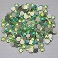Peridot  AB Color ss3,ss4,ss5,ss6,ss8,ss10,ss12,ss16,ss20,ss30 Flat Back Crystal Non Hotfix Nail Art Glue On Rhinestones