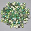 Peridot AB cor ss3, Ss4, Ss5, Ss6, Ss8, Ss10, Ss12, Ss16, Ss20, Ss30 cristal de volta plana não Hotfix Nail Art cola em strass
