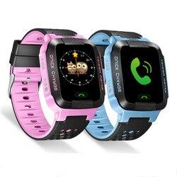 أطفال smartwatch 1.44 hd شاشة اللمس لالروبوت ios نظام مع agps + lbs المواقع مع المصباح و كاميرا smartwatch