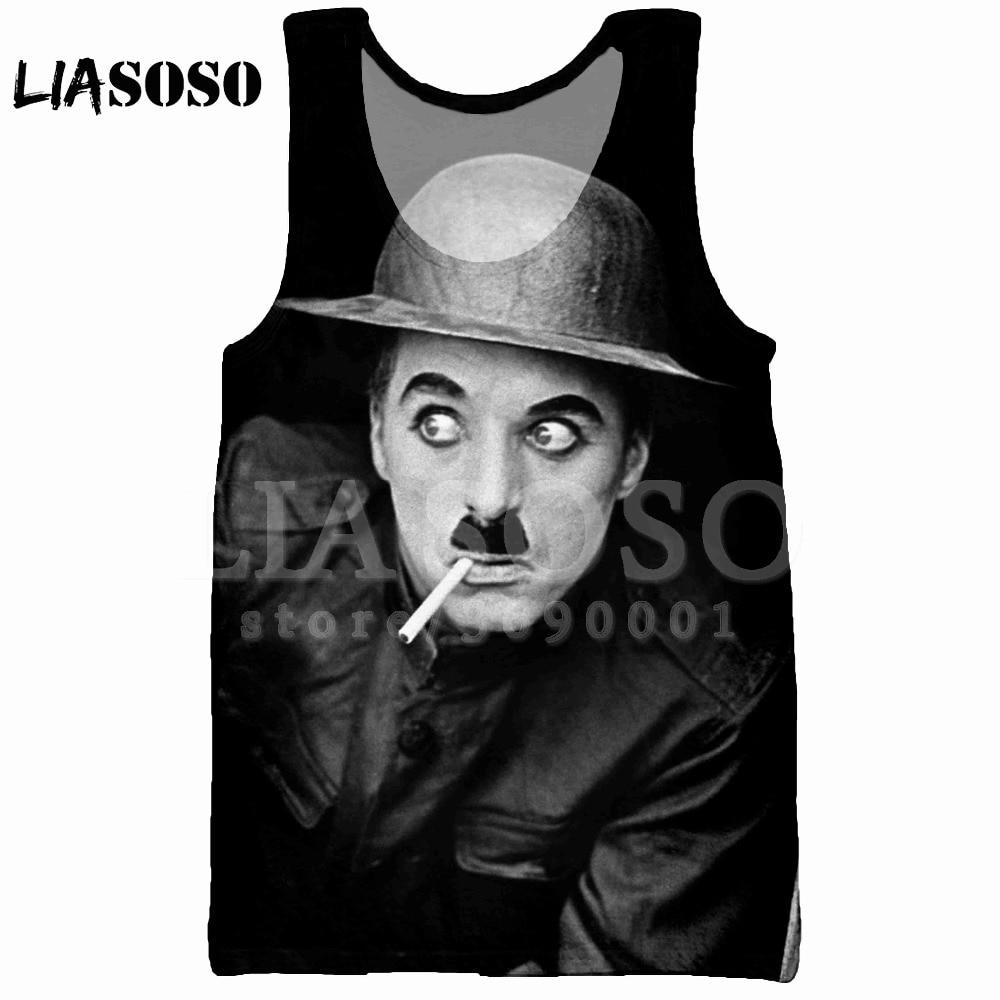 LIASOSO Summer 3D Print Men's   Tank     Top   Vest Comedian Charlie Chaplin sleeveless Hip Hop   Tank     Top   High-quality X2029