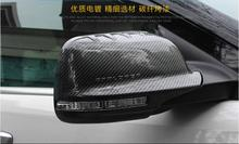 2pcs Carbon Fibre Car Side Mirrors Rearview Cover Trim For Ford Explorer 2013 2014 2015 / 2016 2017 Free shipping