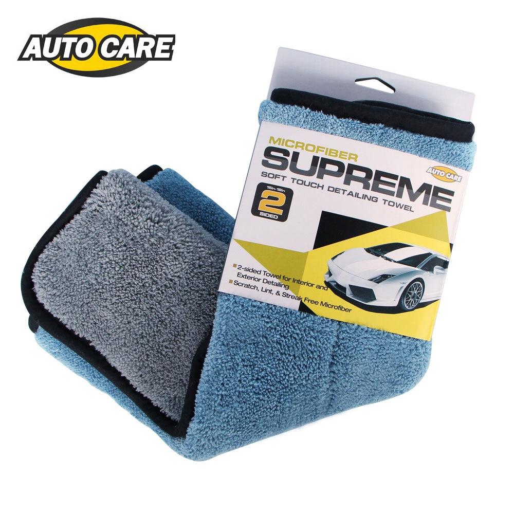 1 pc 800gsm x 45x38 cm microfibra coche paño de limpieza Super gruesa felpa microfibra detallando cera pulido de coches, toalla de cuidado