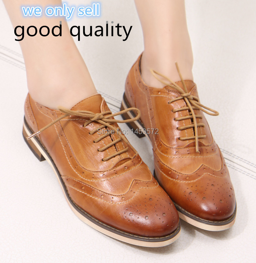 Original Dress Women Oxfords Shoes Flats Platform Pointed Toe Derby Shoes