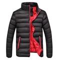 2017 Nova Moda de Inverno Para Baixo Homens Jaqueta de Qualidade Grosso homens Jaqueta de Inverno Quente Sobretudos Casuais Sólida Clássico 3xl