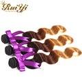 12 - 24 três Tone Ombre extensões de cabelo 7A malásia virgem cabelo onda corpo 3 Bundles malásia feixes de cabelo onda do corpo barato