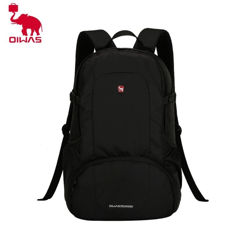 Oiwas Multifunctional Solid Color Men Women Laptop Backpack Business Style Travel Bag School Shoulder Bag Black