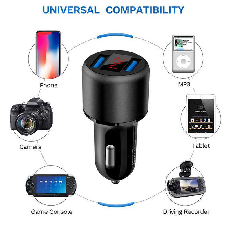 3.1A Dual USB Car Charger 2 Port LCD Display 12-24V Cigarette Socket Lighter for most phones/tablet pc/navigator/PDA/PSP/MP3/MP4