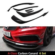 6 Пирог/Комплект Для Mercedes-Benz W176 A250 A260 A45 Amg 2012 2013 2014 2015 Углеродного Волокна Передний Сплиттер