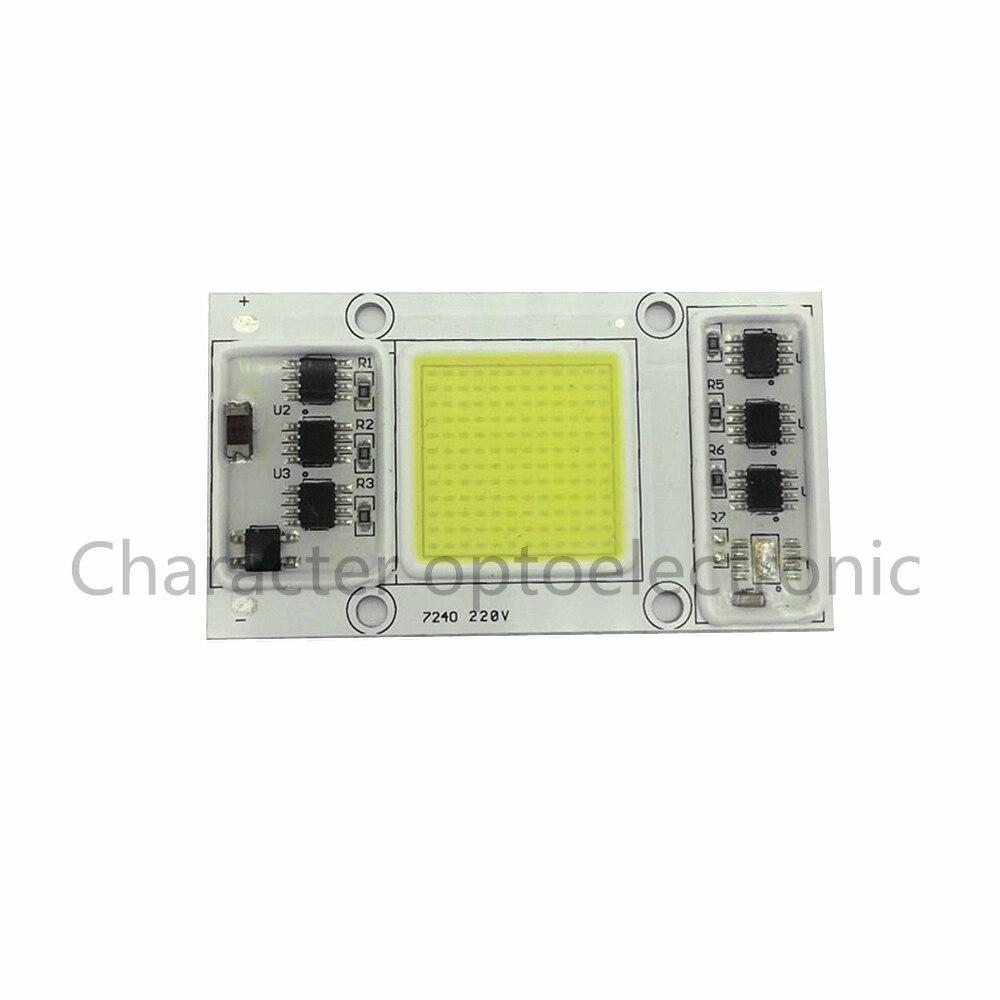Купить с кэшбэком AC 220V  50W LED COB communication chip IC intelligent drive without theWarm white 3000K Cool white 6000K light bulb for LED DIY