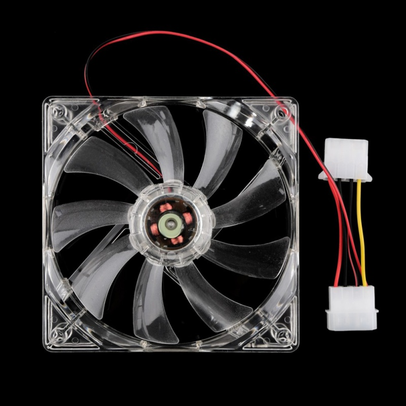 120mm Fans 4 LED 120 x 120 x 25mm 4pin Hydraulic Bearing LED Blue Computer Case Cooling Fan for Computer Case sunon ac 220v aluminum cooling fan 120 x 120 x 25mm computer