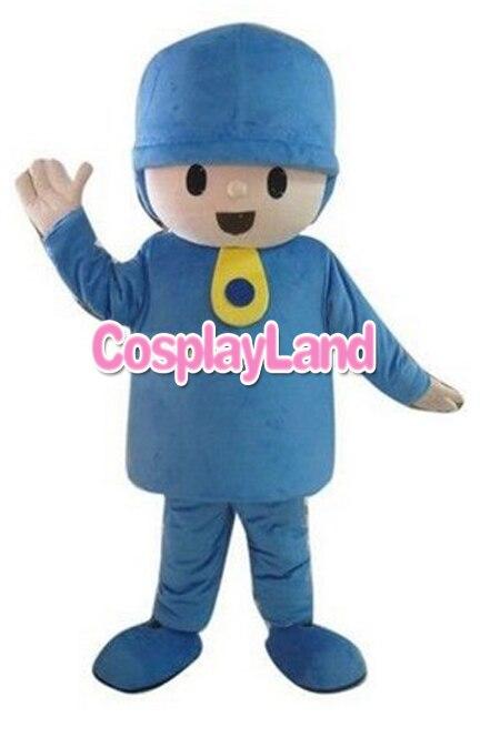 Halloween Pocoyo Mascot costume Adult Top Quality Cartoon Pocoyo Costumes Plush For Advertising