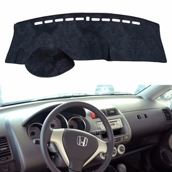 For Honda Fit Jazz 2001 -2007 Flannel Dashmats Dashboard Covers Dash Pads Car Mat Carpet Sunshade 2002 2003 2004 2005 2006
