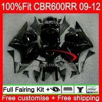 Injection For 2009 2010 2011 2012 Fairing HONDA CBR600RR CBR 600RR 600F5 53SH19 CBR 600 Glossy black RR F5 09 10 11 12 CBR600 RR