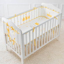 MrY 3D Sandwich Mesh Breathable Crib Enclosures Baby Collision-proof Bed Enclosure Newborn Bumper Protection Supplies Hot Sell
