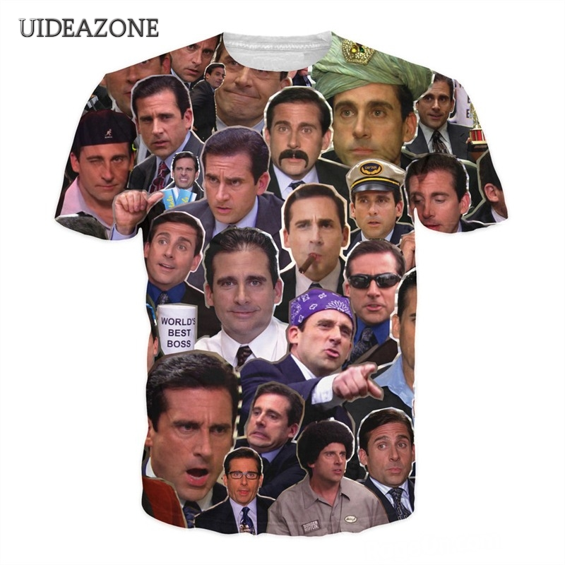 Steve Carell Collage T-shirt Tees 3D Volle Gedruckt Paare Sommer T Shirt Outfits Hipster Crewneck Casual Unisex T-shirts